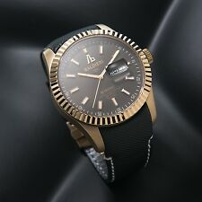 LUXURY WATCH ALESSANDRO BALDIERI  SWISS 45MM GOLD PLATED, BLACK DIAL .NEW