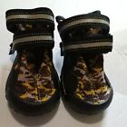 2 Camo Dog Shoes Boots With Rugged Tread, Size L