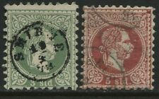 Austria Offices in the Turkish Empire 1867 3 and 5 soldi used