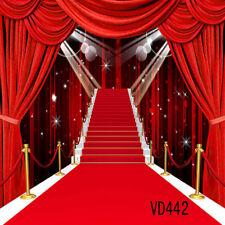 10X10FT Red Carpet Graduation Vinyl Backdrop Photography Props Background VD442
