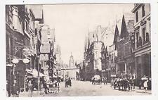 Chester,U.K.Eastgate Street,Horse Drawn Wagons,B/W,Printed,Chesire,c.1909