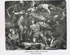 Alexander the Great at Peril in Battle - 1899 Page of History