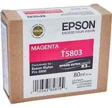 Original Tinta Epson Stylus pro 3800/T5803 Agenta Cartucho de Tinta 80ml
