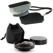 37mm 0.3x Wide Angle Fisheye Lens + Hood for Canon Vixia HF20,HF200,HG20,HG21,US