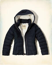 Abercrombie & Fitch – Hollister Womens Sherpa Lined Puffer Jacket XS Navy NWT