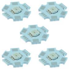 5 x RGB 1W Star Heatsink High Power SMD LED