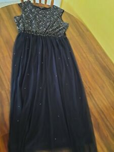 Candalite Womens Long Navy Blue 3x Plus Size Womens Formal Evening Gown