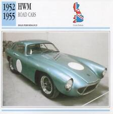 1952-1955 HWM Road Classic Car Photo/Info Maxi Card