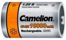 Akku Mono D R20 10000mAh 1,2 V Accu wiederaufladbar Batterie Ni-MH Camelion