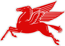 """MOBIL Pegasus Officially Licensed 20"""" x 27.5"""" Embossed Tin Metal Sign"""