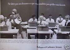 PUBLICITÉ 1973 RUBANS ET CARBONES FILMS ARMOR - ADVERTISING