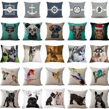 17'' Cotton Linen Plant Pillow Case Sofa Waist Throw Cushion Cover Home Decor