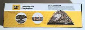 """Caterpillar x REALTREE 2-Person Dome Camping Tent w/ Travel Bag 41""""H 84""""L 54""""W"""