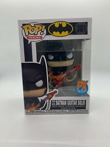 Dark Nights: Death Metal Batman with Guitar Pop! Figure PX W/PROTECTOR MINT