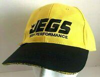 JEGS High Performance Yellow/Black Baseball Cap Adjustable
