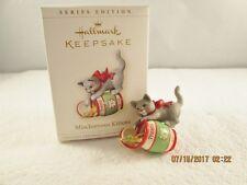 2006 HALLMARK Gray Kitty Cat TREAT JAR Mischievous Kittens Christmas Ornament