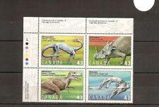 Canada 1993 SG1568-71 4v Block Prehistoric Canada-Dinosaurs-Massospondylus/Strya