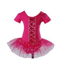Girls Ballet Dress Dance Tutu Dress Pink Red Ivory Black Hot Pink 2 3 4 5 6 7