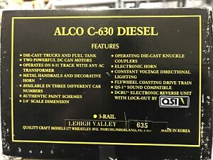 ✅WEAVER  Gold Edition ALCO C-630  Diesel Lehigh Valley #635 O Scale NEW see ad