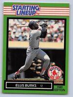 1989  ELLIS BURKS - Kenner Starting Lineup Card - BOSTON RED SOX