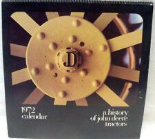 1972 CALENDAR A History Of John Deere Tractors COMMENTARY & ILLUSTRATIONS
