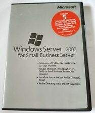 Microsoft Windows Server 2003 for Small Business Server SP2 5 CAL SBS X13-82353