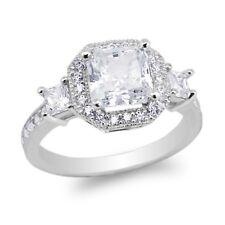 Luxury style Ring Size 5-10 JamesJenny 10K/14K White Gold Square Cz
