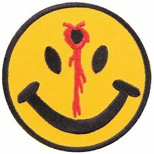 Smile Smiley Face Bullet Funny Fun Happy Boho Hippie Joke Iron on Patches #0608