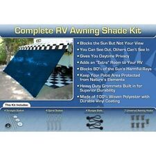 RV Awning Shade Kit RV Shade Complete Kit 8x12 (Blue)