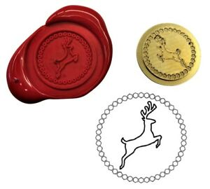 Reindeer Stag Deer Wax Stamp Seal Starter Kit or Buy Coin Only. XWS039B/XWSC371