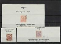 hungary 1898 imperf stamps ref 11063