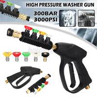 "3000PSI Car High Pressure Washer Trigger Jet Gun W/ 5PCS 1/4"" Spray Nozzle"