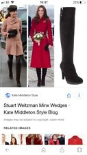 russell bromley 6,5 Eu 39, Black Suede Zipkin Boots, As Seen On Duchess Kate!
