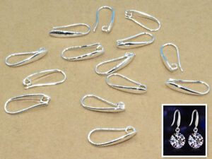 10PCS DIY Jewelry Design Finding Silver Pinch Bail Hooks For Stone Earring