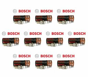 Set of 10 Bentley Continental Bosch Spark Plugs 02422256248RE 7913