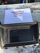 VAUXHALL VIVARO TRAFIC 07-14 STEREO + SAT NAV DISPLAY NO CODE