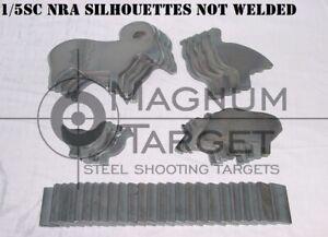 1/5sc IHMSA/NRA Metallic Silhouette Targets - 20pc U-Weld S.B. Rifle Knock-overs