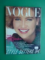 Vogue UK January 1984 Tara Fitzpatrick Ready To Wear Collections London Paris Ny