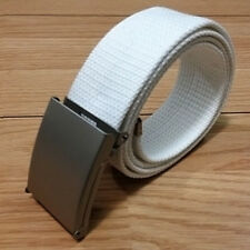 CANDY COLORS MENS Women UNISEX PLAIN WEBBING COTTON CANVAS METAL BUCKLE BELT