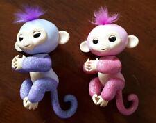 Genuine Fingerlings Monkey Electronic Pet Interactive Rose Pink Kiki Purple