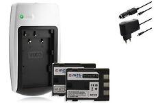 Chargeur+2x Batterie NB-2L NB2L pour Canon Powershot S50, S55, S60, S70, S80