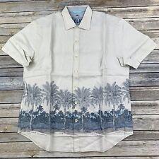 dea61767 Tommy Bahama Camp Shirt Ashore Breezer Dusty Jade Linen T314617 New Large L