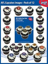 AFL Party Supplies 12 Team Logo Edible Cup Cake Icing Images **1 TEAM PER PACK**