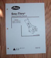 ARIENS 938017 - SS522EC, 938018 - SS722EC SNO -THRO OWNERS MANUAL