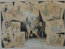 Judge Magazine. A Few Flash-Light Pictures. 1890.