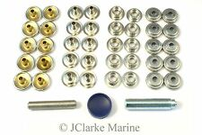 Boat Cover/Canopy Fittings - Snap fastener nickel plated canvas to canvas kit
