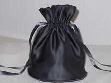 Pewter/Dark grey satin dolly bag for bridesmaid/eveningwear/prom
