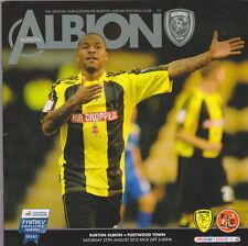 Football Programme>BURTON ALBION v FLEETWOOD TOWN Aug 2012