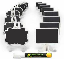 New listing Mini Chalkboard Label Signs 16 Pack With Easel Stand Design, Small Chalk Blackbo