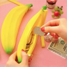Chic Portable Wallet Silicone Kawaii Pencil Case Bag Banana Pouch Purse